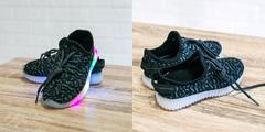 Обувь дет. № 4 Кроссовки Светящиеся Темно-Серые