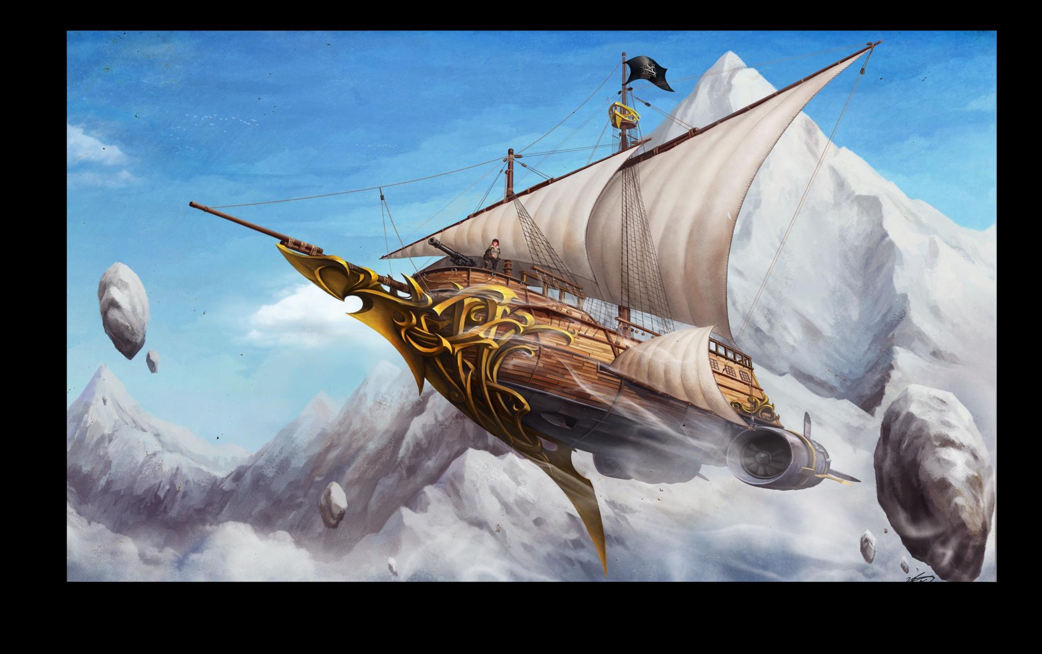 """Постеры Постер """"Небесный корабль"""" п141.png"""