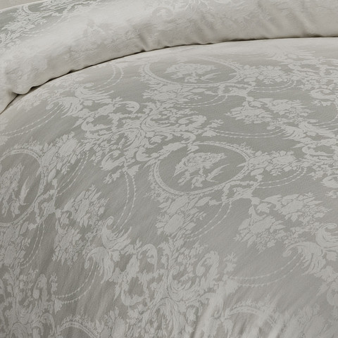 Постельное белье Grant кремовый жаккард deluxe TIVOLYO HOME Турция