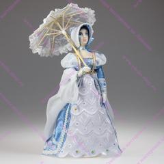 Сувенирная кукла со складным зонтиком в костюме начала 19 века