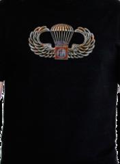 Футболка Black Ink Design 82D Airborne Division Foreverl, черная, новая