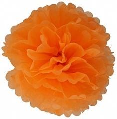 Бумажный помпон Оранжевый (14''/36 см)