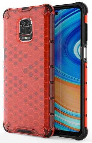 Красный чехол для смартфона Xiaomi Redmi Note 9s и 9Pro от Caseport, серия Honey