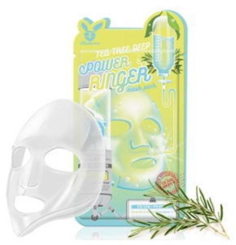 Тканевая маска ТМ ELIZAVECCA TEA TREE DEEP POWER RINGER MASK PACK