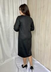 Лайма. Стильна комбінована замшева сукня. Шоколад