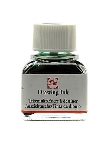 Тушь DRAWING INK банка 11 мл цв.№602, зелёная тёмная
