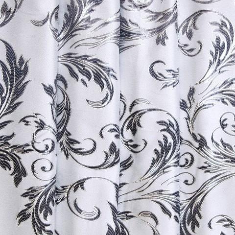 Портьерная ткань с люрексом 150 см Х7187 цвет 12 серый ветка