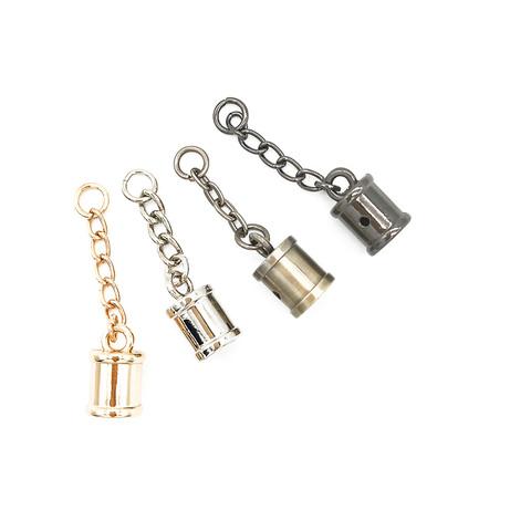 колокольчик- подвеска для кисточки на цепочке,1.6*1.4 см