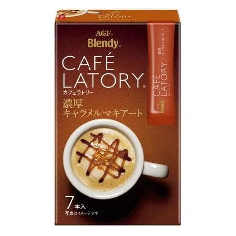 Кофе АГФ стик AGF CAFE LATORY Карамель-Маккиато в стиках, (11гр х 7 ) 45,5г, AGF 1/24 Япония