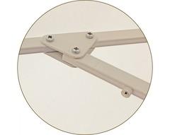 Зонт Ø 2.5 м с воланом (алюминиевый каркас с подставкой, тент OXF 300D) ПК