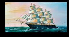 """Постер """"Морской корабль"""""""