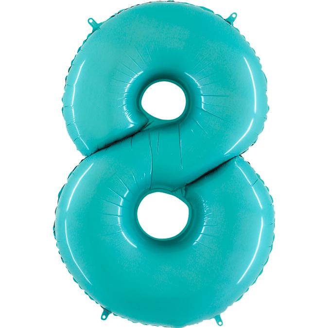 Голубая цифра 8