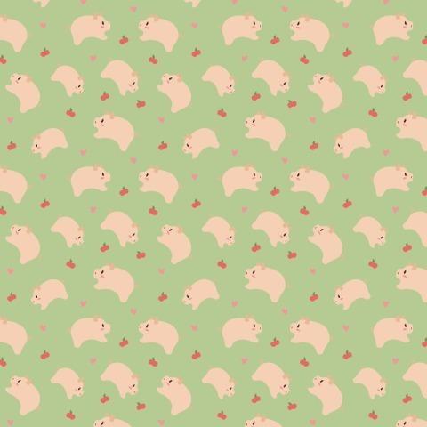 Поросята с яблоками