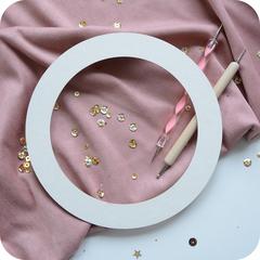Заготовка для шейкера или тиснения, круглая рамка в ассортименте