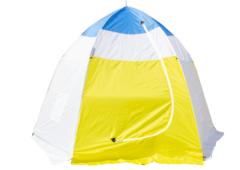 Палатка рыбака с брезентом Стэк-4 (п/автомат)