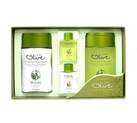 3W Clinic Мужской набор с экстрактом оливы Olive For Man Fresh