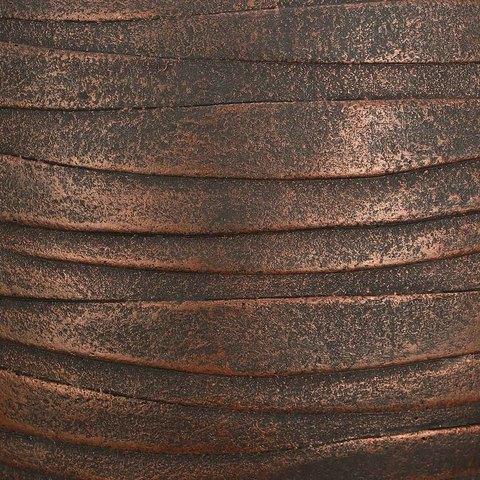 ROWR27-BNZ Кашпо Роу Круглое, файберстоун, бронза, D27 H25.5 cm