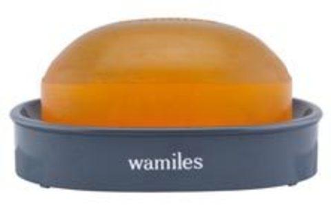 Мыло туалетное для сухой и нормальной кожи Wamiles Ioune Soap E, (в комплекте с мыльницей), 100 г