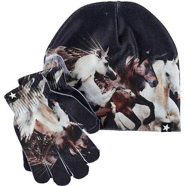 Комплект Molo: шапка и перчатки Kaya Unicorn and Pegasus