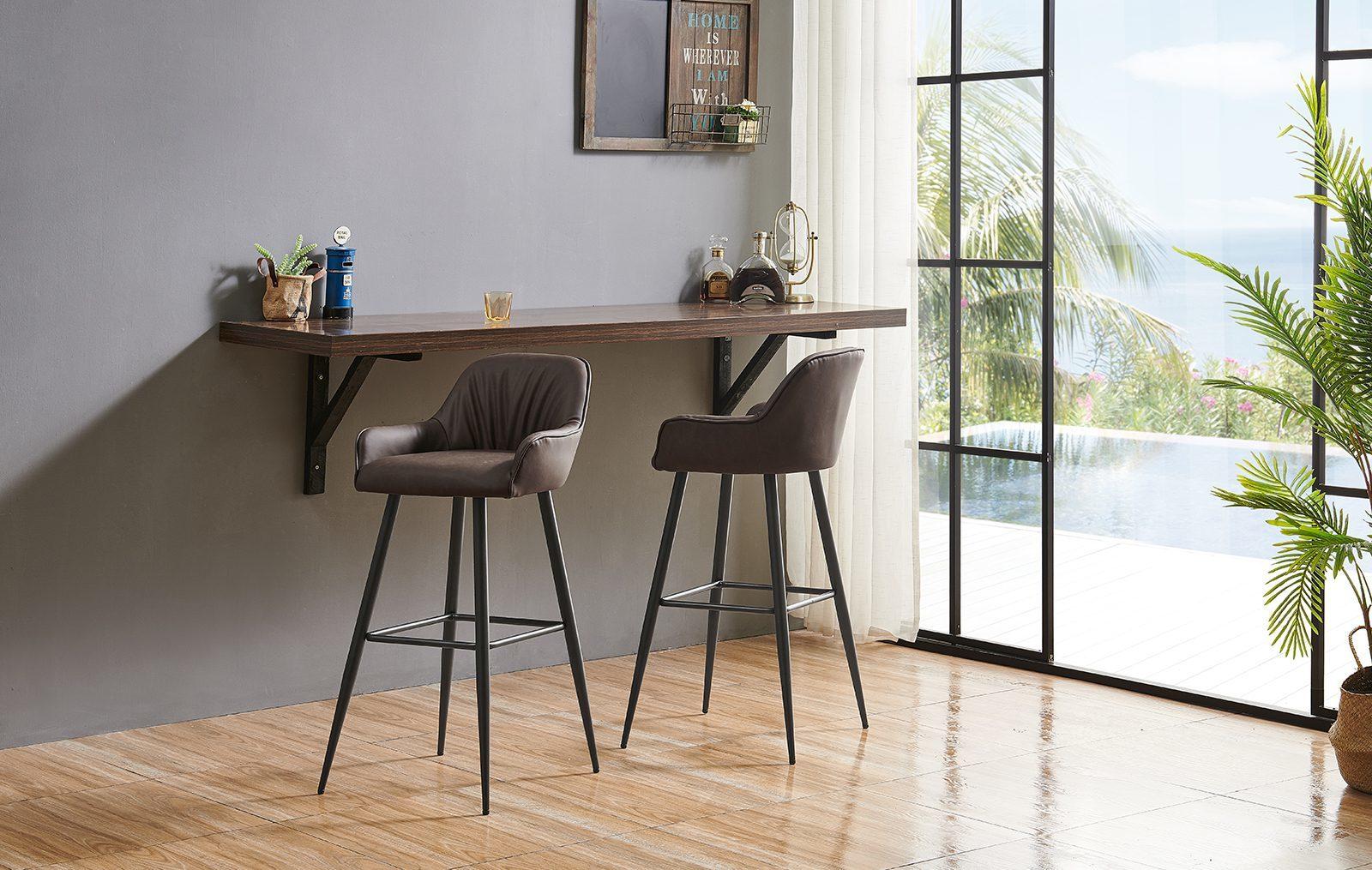 Барные стулья 2-173 коричневые
