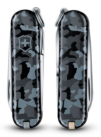 Нож Victorinox Classic, 58 мм, 7 функций, камуфляж морской