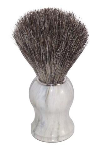 Помазок для бритья Mondial, пластик, ворс барсука, рукоять - цвет белый мрамор