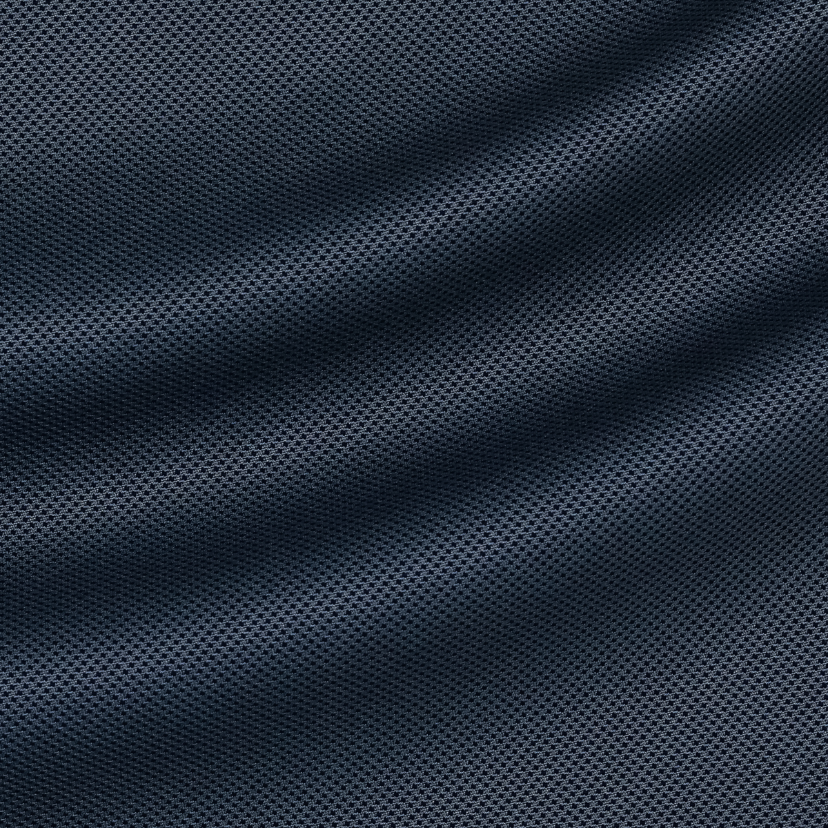 Мелкоузорчатая шерстяная ткань с шёлком тёмно-синего и приглушенно-голубого оттенка