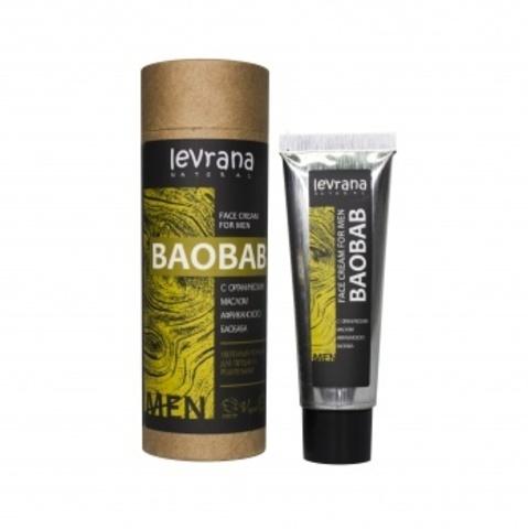Крем для лица Баобаб, мужской, 30мл (Levrana)