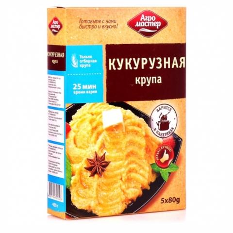Кукурузная крупа АГРОМАСТЕР 400 гр пак РОССИЯ