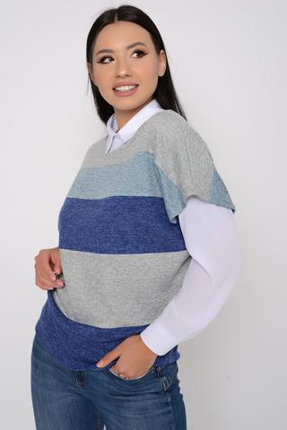 <p>Очередная наша шикарная новинка. Сидит идеально по фигуре. Жилет можно носить как с блузкой, с водолазкой, так и просто как отдельную модель.</p>