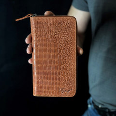 Клатч-гаманець Crocodile, натуральна шкіра