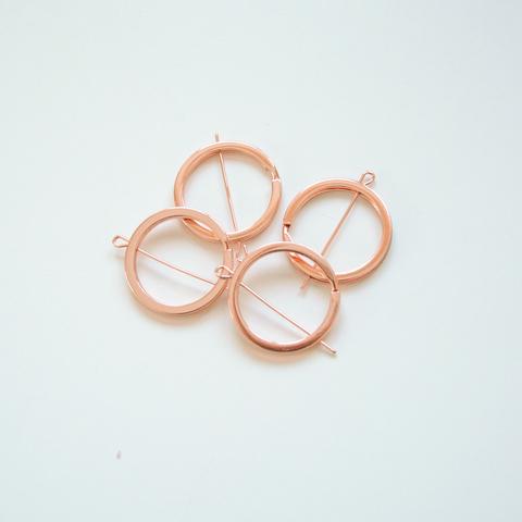 Соединительное кольцо плоское, 30мм, розовое золото