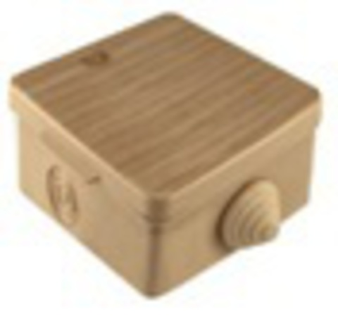 Распаячная коробка ОП 65х65х50мм, крышка, сосна, IP54, 4вх. инд. штрихкод TDM