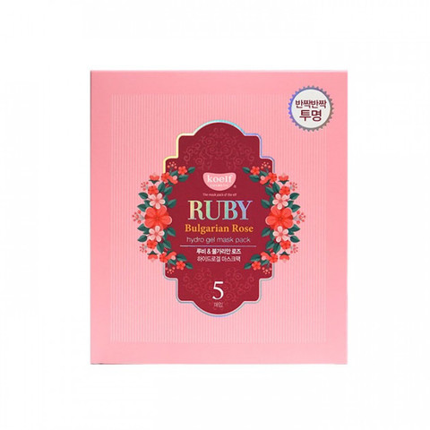 ГИДРОГЕЛЕВАЯ МАСКА ДЛЯ ЛИЦА С РУБИНОМ KOELF RUBY & BULGARIAN ROSE HYDRO GEL MASK PACK