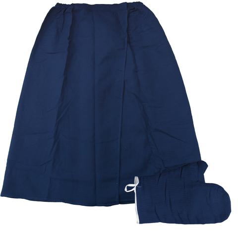 Вафельный комплект (накидка и рукавица) для женщин 145х78 см