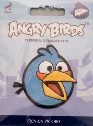 Аппликация Angry birds , голубая 14115