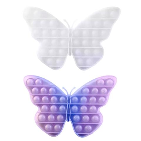 Пупырка вечная антистресс pop it (поп ит) меняющая цвет бабочка - хамелеон