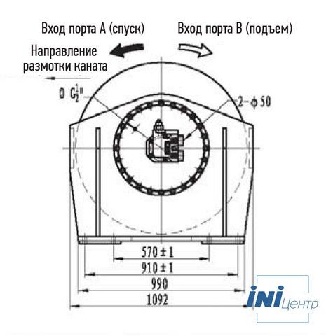 Лебедка свободного сброса IYJ6-130-298-32.5-L-ZPH3
