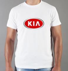 Футболка с принтом KIA (КИА) белая 005