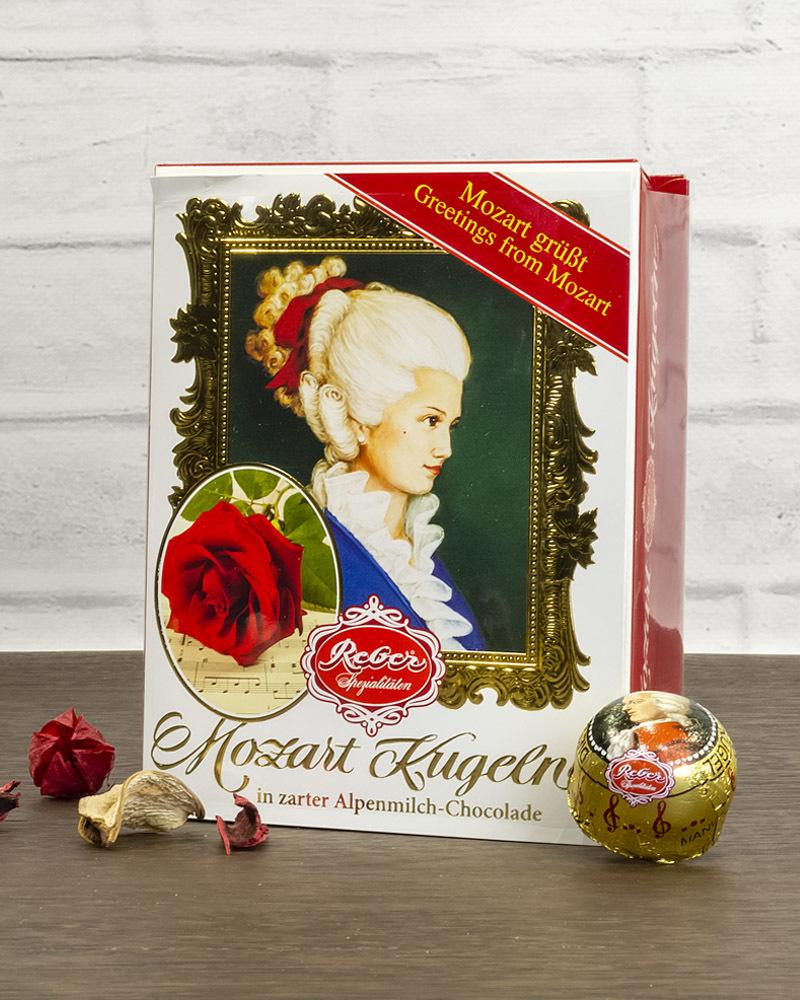 Шоколадные конфеты Reber с молочным шоколадом в подарочной упаковке, 120 гр.