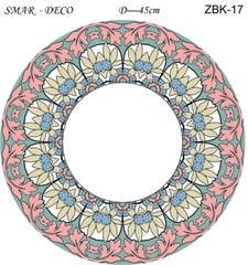 Эскиз для росписи, Зеркало диаметр-45см, SMAR-ZBK-17