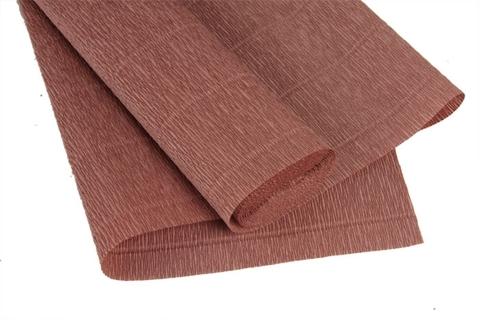 Гофрированная бумага, цвет 613, какао, 180г, 50х250 см, Cartotecnica Rossi (Италия)