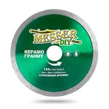 Алмазный диск MESSER-DIY диаметр 125 мм со сплошной режущей кромкой для резки керамогранита