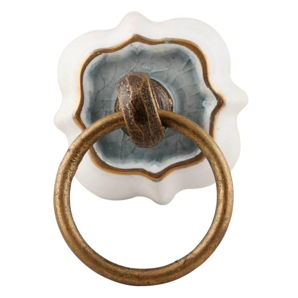 Ручка мебельная керамическая с кольцом, арт. 00001202
