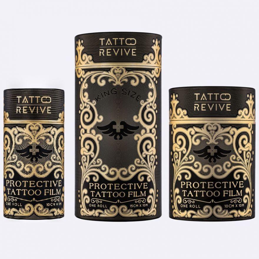 ЗАЩИТНАЯ ПЛЕНКА ДЛЯ ТАТУИРОВКИ, 10М X 15СМ PROTECTIVE TATTOO FILM Tattoo Revive