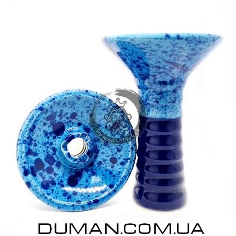 Чаша GrynBowls для кальяна |Big Alien Dark Blue-Blue