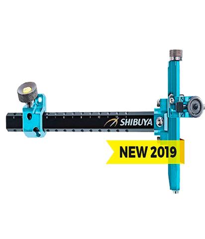Прицел для лука спортивного Shibuya Sight 485-9 Ultima II RC Recurve Carbon Light-blue