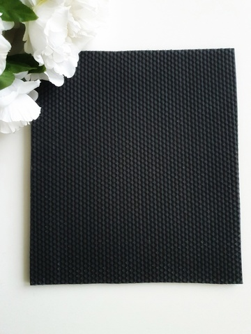 Микропористая резина 5 мм (22х25 см), Черный