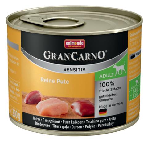 Консервы Animonda Gran Carno Sensitiv c индейкой для собак с чувствительным пищеварением