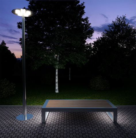 Bench CITY with lights
